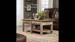 Cabin Sauder Oak Log Woodworking Boone Mountain Craftsman Coffee Table