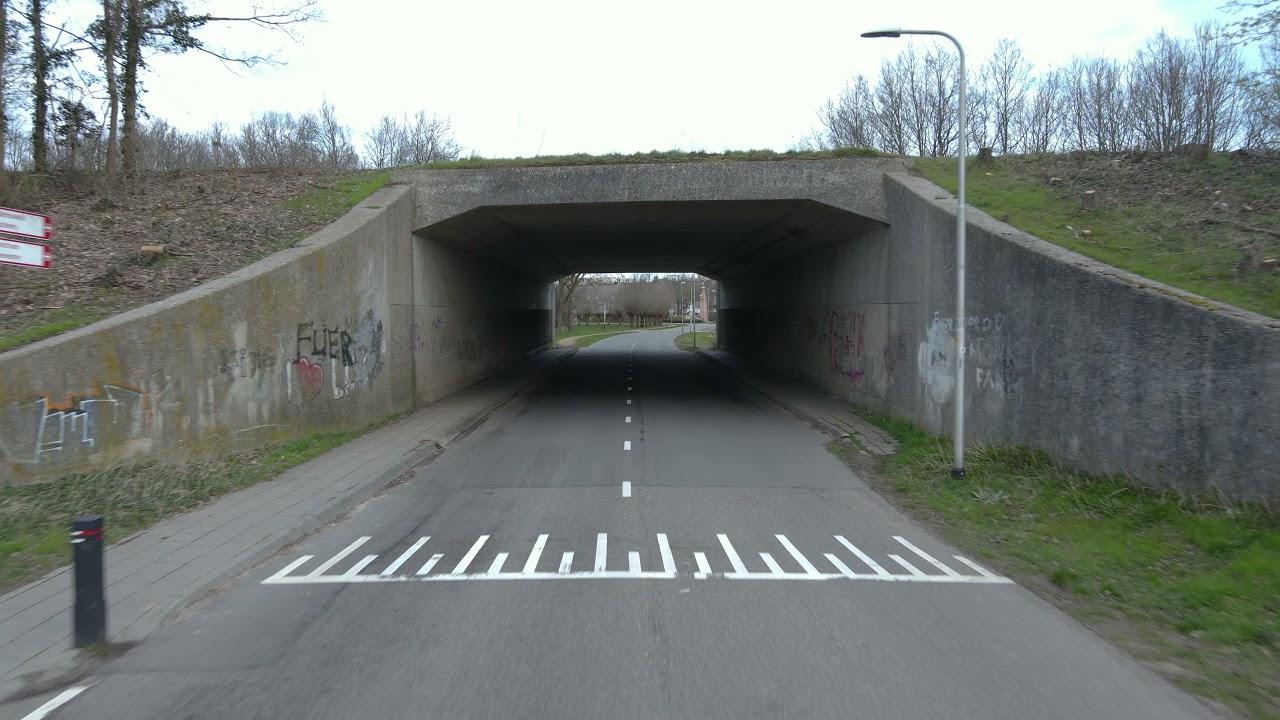 Drone beelden gemaakt van tunnel en omstreken