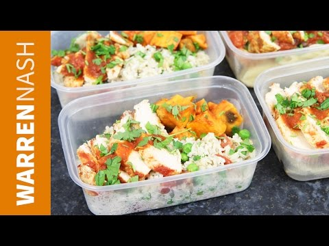 Meal prep for the week - UK foods with Chicken - Recipes by Warren Nash