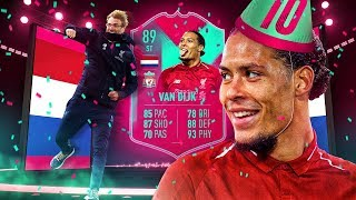 CAN HE PLAY STRIKER?! 89 FUT BIRTHDAY VIRGIL VAN DIJK PLAYER REVIEW! FIFA 19 Ultimate Teamm