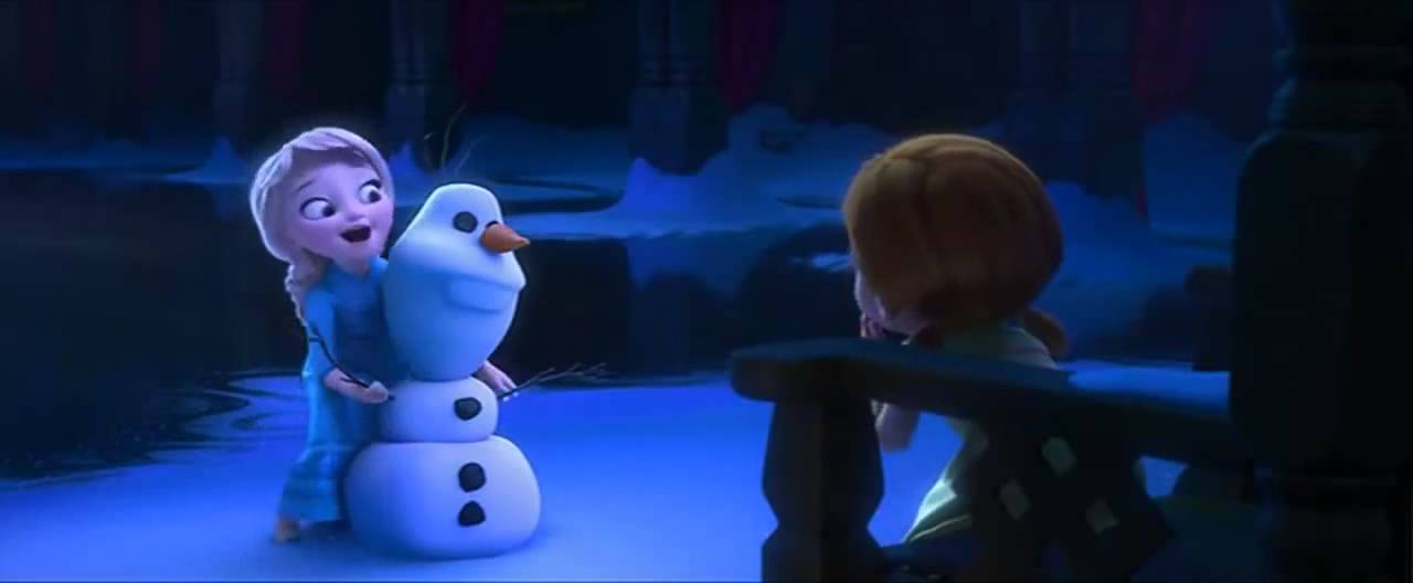 Wallpaper Hd Snow Falling Frozen Little Elsa Plays With Anna Youtube