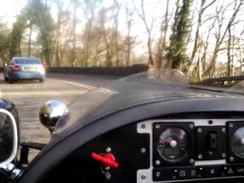 Morgan Three Wheeler driven by Patrick Baladi