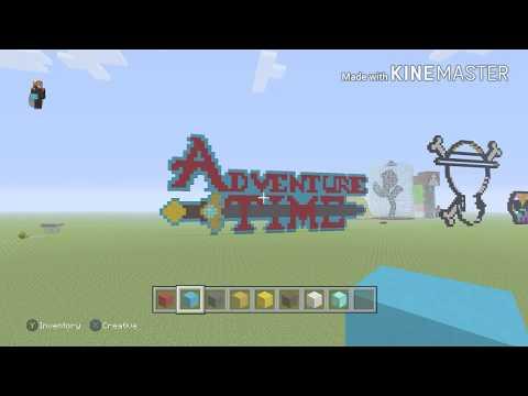 Adventure Time Logo Quick Build - Minecraft Pixel Art
