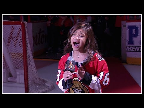 Angelica Hale sings the national anthems