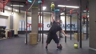 Доношение напопа трёх гирь: 73,3кг; 77,3кг; 81,3кг. Bottoms up kettlebells two hands anyhow-81,3kg
