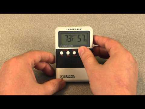How to use the Digital Humidity/Temperature Meter