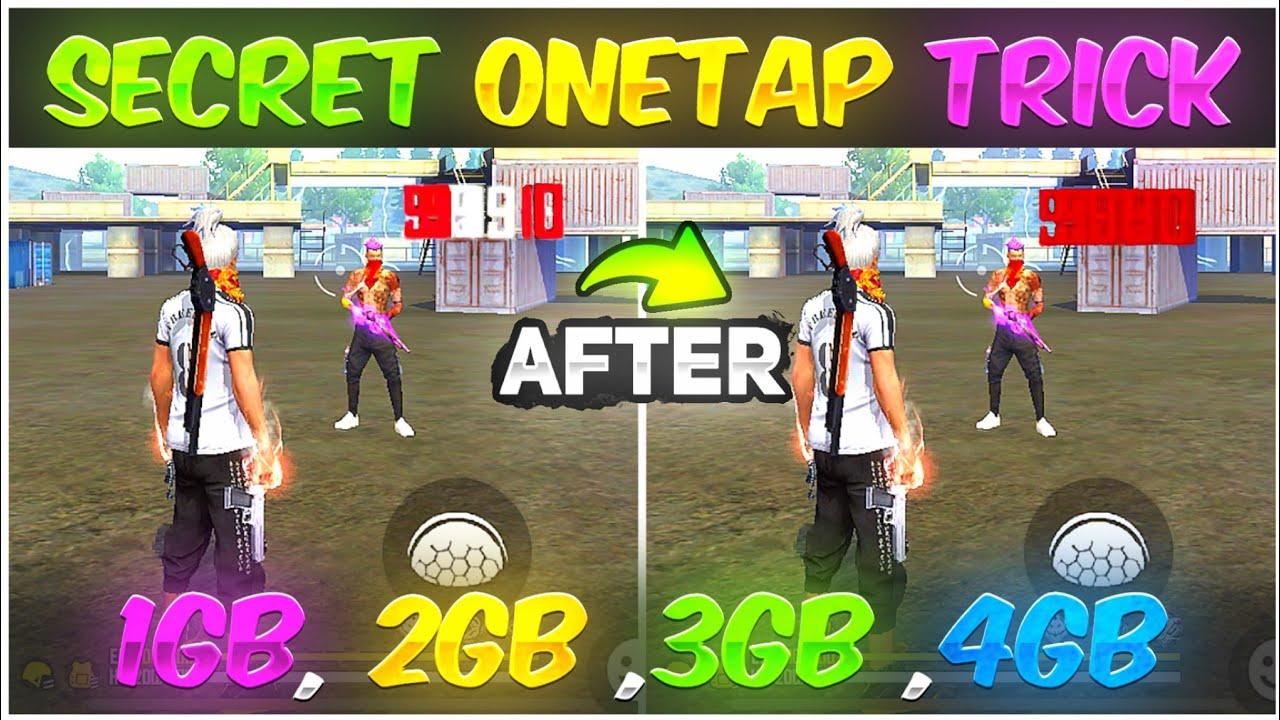 Secret One Tap Headshot Trick 🔥  2gb 3gb 4gb Ram Mobile   New One Tap Headshot Setting 👽 -Free Fire