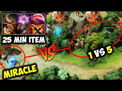When You Meet M-God On Single Draft 20 Min 1 vs 5 - Miracle Rambo Mode Wtf 6x Rampage Dota 2 thumbnail
