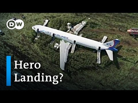 Russian airplane captain safely emergency lands plane after bird collision | DW News