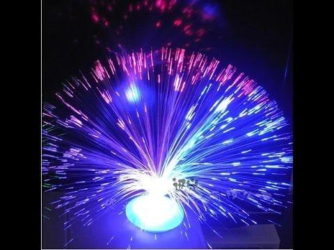 Fibre Optic Plant / UFO Flower Vase Similar to Lava Lamp Techy Desk Show Off Cool Gadget