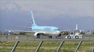 【 ありがとう  コリアンエアー ★ まつもと空港 チャーター便 】Good Bye Korean Air Boeing 737 800 at Matsumoto Airport thumbnail