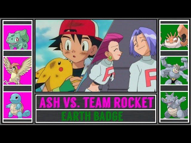 Ash vs. Team Rocket (Pokémon Sun/Moon) - Veridian Gym/Earth Badge