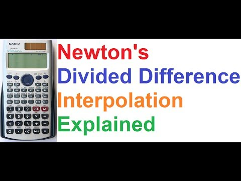 Newton Divided Difference Interpolation Explained on Casio fx-991ES Scientific Calculator