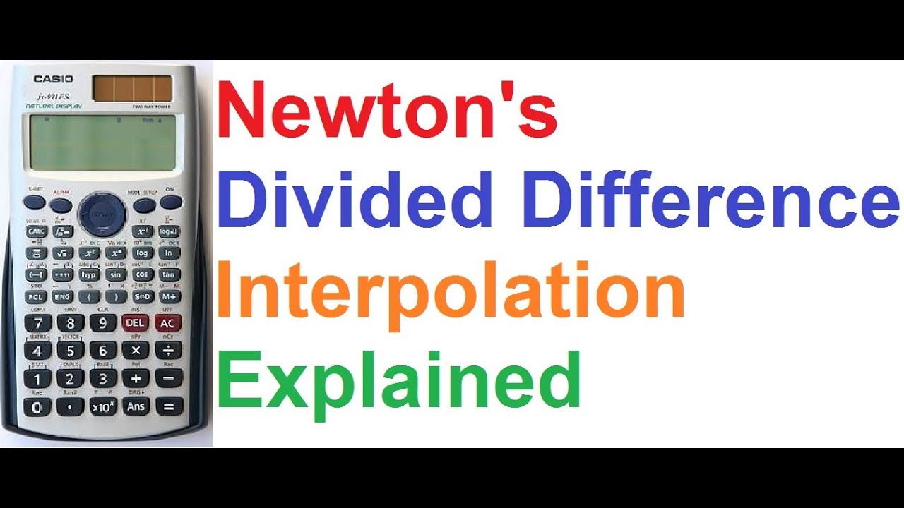 newton divided difference interpolation explained on casio fx 991es