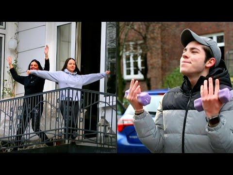 AFP Deutschland: Balkon-Fitness gegen den Corona-Blues | AFP