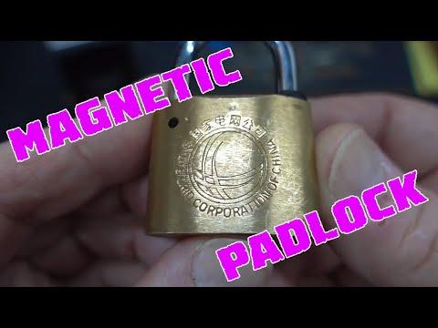 (1356) Kunlun Magnetic Padlock Picked Open