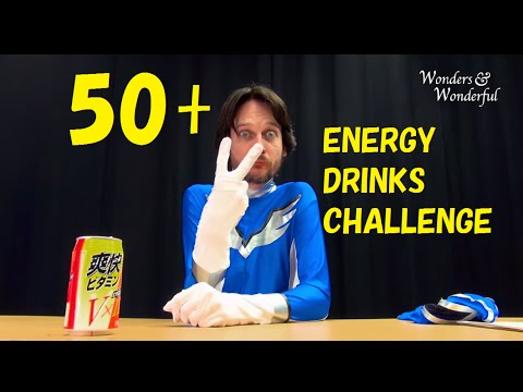 Challenge!!!  to 50 strange energy drinks in Japan