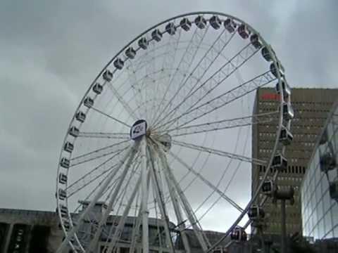 Ferris Wheel And Surroundings, Manchester, UK