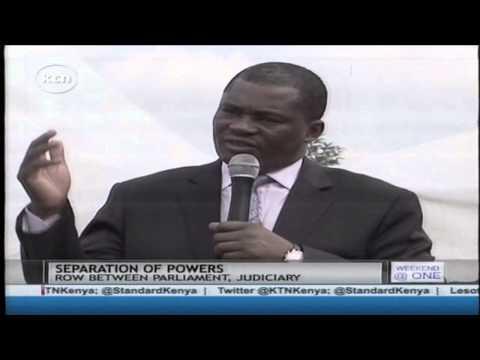 Speaker Justin Muturi on separation of powers between the judiciary and the legislature