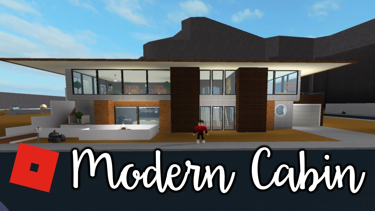 Welcome To Bloxburg Modern Cabin Speed Build Youtube
