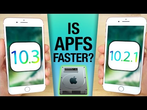 iOS 10.3 vs 10.2.1 Speed Test! Is APFS Faster?