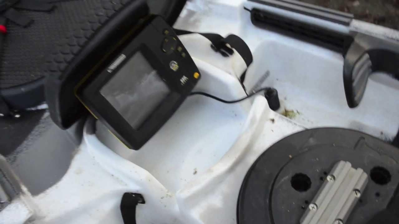 rigging the ocean kayak trident 13 - youtube, Fish Finder