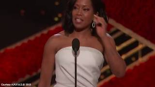 Regina King Nearly Trips After Winning Oscar For Best Supporting Actress