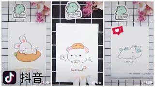 [抖音] TikTok trung quốc 🇨🇳 | Học vẽ hình cute ❤️ | quốc Việt channel •