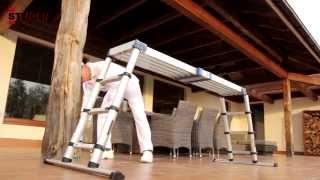 видео Лестницы алюминиевые приставные и телескопические