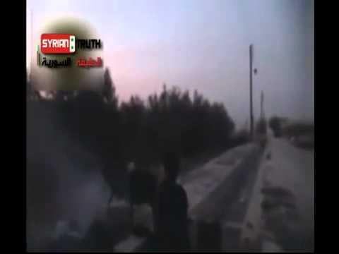 Al Qaida (Free syrian army) attacking syrian army