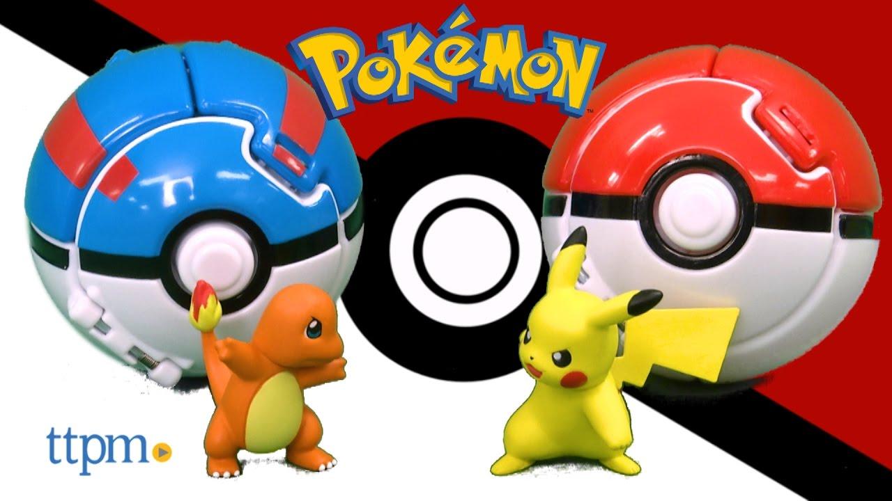 pokemon throw n pop poke ball pikachu and poke ball from tomy