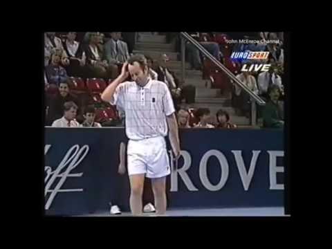 Joakim Nyström vs McEnroe RR - Basel 1995 Highlights