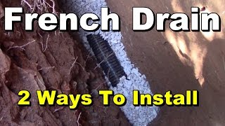 Which is Better French Drain? Gravel or Styrofoam, EZ Flow, Yard Drain