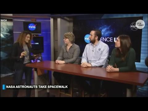 NASA astronauts take the first spacewalk of 2019.