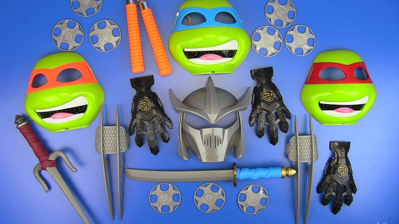 NINJA Weapons Toys for Kids ! Colored Toy Guns & equipment ...