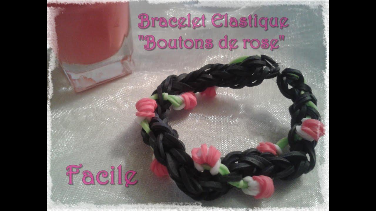 tuto 7 bracelet en lastique en forme de rose fr youtube. Black Bedroom Furniture Sets. Home Design Ideas