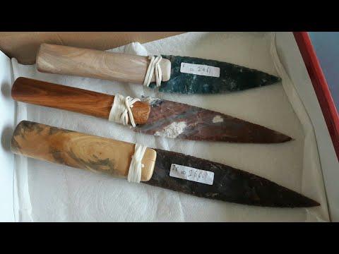 Making Wood Handles For Flint Stone Knife Blades