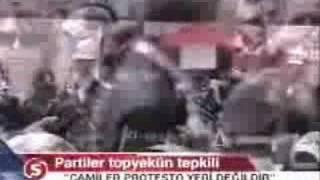 SEHIT CENAZELERI CAMILER PROTESTO YERI DEYILDIR