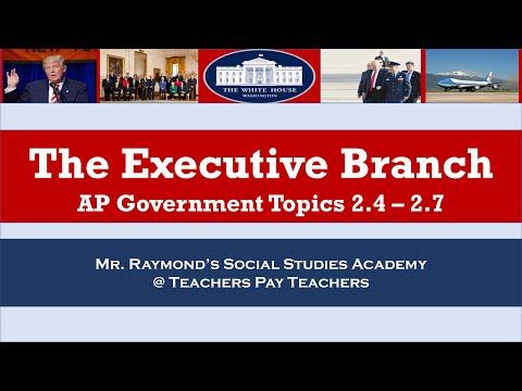 AP Government - Executive Branch Review: Redesigned AP Gov Exam