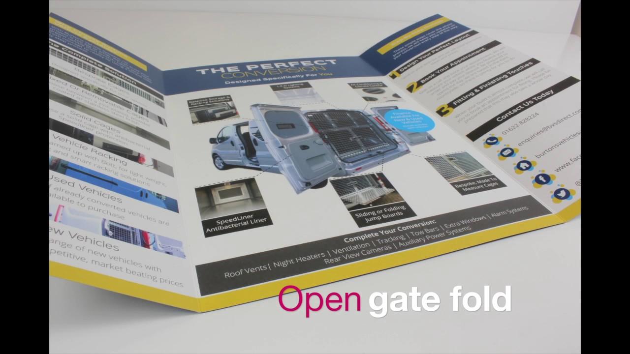 Open Gatefold Printed Brochure