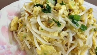 #303-1 stir fried eggs with mung bean sprouts - 숙주나물 달걀볶음