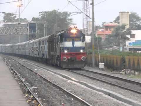 12488 Seemachal Express accelerating with WDM3D JMP