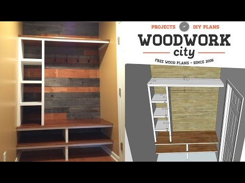 build-an-entry-hall-storage-bench-lockers-with-sketchup