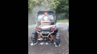 Dusichin Foam Cannon from Amazon cleaning a Dirty Polaris RZR