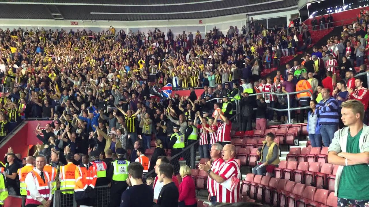 Europa League. St Mary's stadium, Southampton. Saints 3 v 0 Vitesse A. Great away support & result.