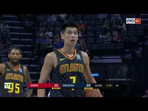 Jeremy Lin's Offense & Defense Highlights 2018-10-06 Hawks VS Grazzlies