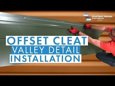Standing Seam Metal Roofing Installation: Offset Cleat Valley Detail