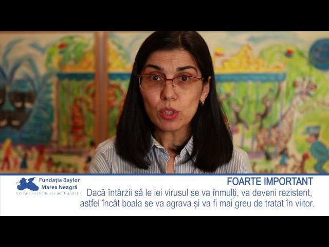 Dr. Roxana Cernat despre luarea corectă a tratamentului împotriva HIV