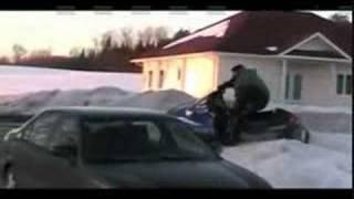 Dude Jokes About Wrecking Ski-Doo; Promptly Wrecks Ski-Doo thumbnail
