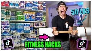 We TESTED Viral TikTok AT HOME Quarantine FITNESS Life hacks.... (This is what happened)